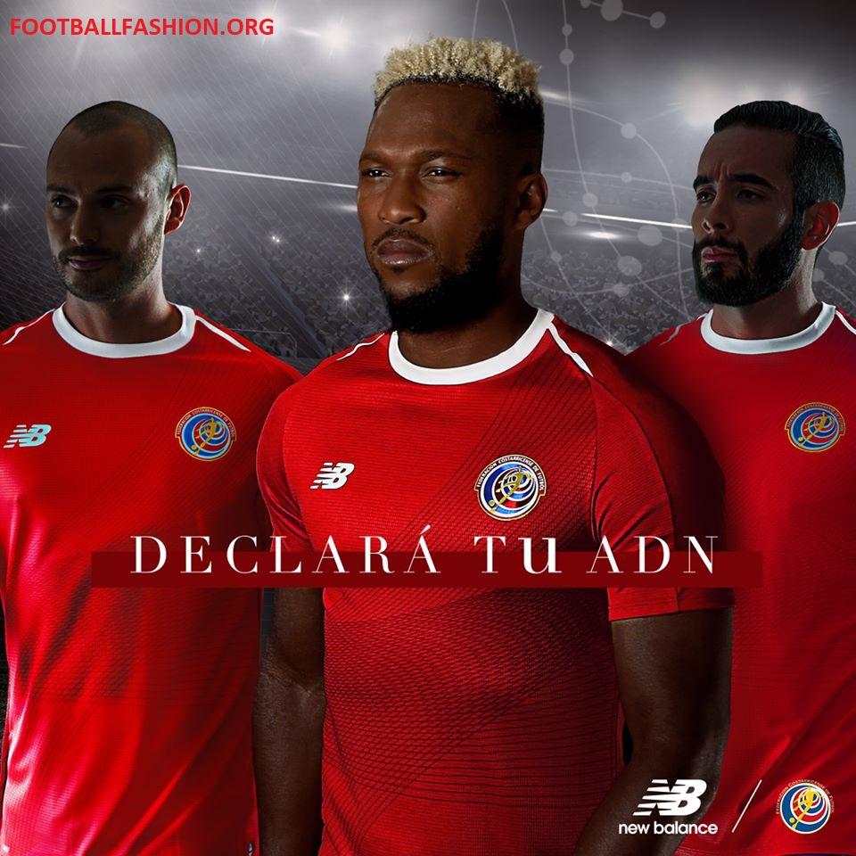 costa rica 2018 world cup new balance home kit football