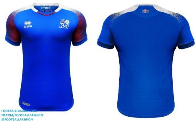 2bc05adec45 Iceland 2018 World Cup Errea Home and Away Kits - Football Fashion