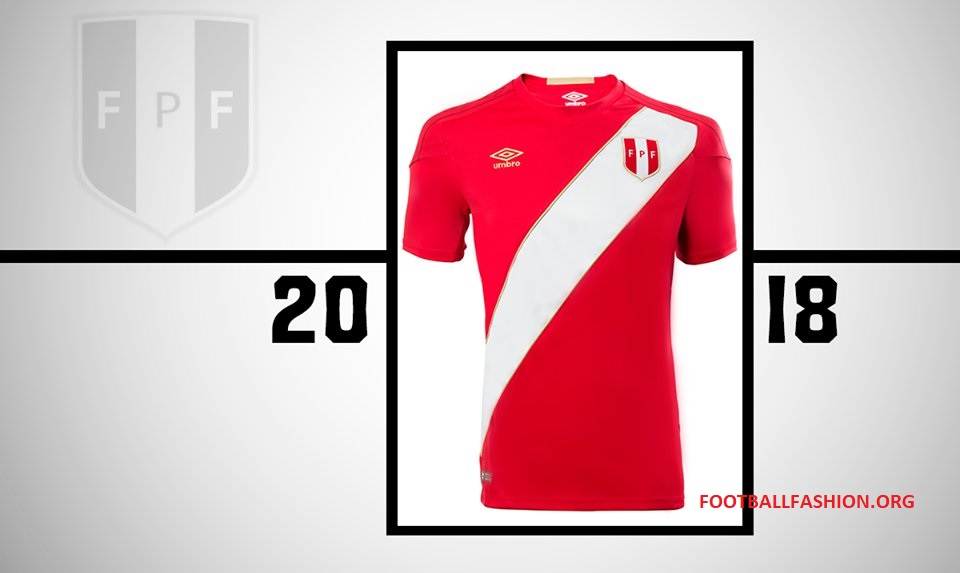 5f2263aaa Peru 2018 World Cup Umbro Away Jersey - FOOTBALL FASHION.ORG