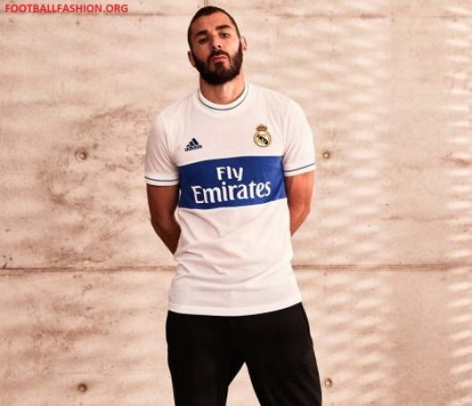 Real Madrid 2018 adidas Icon Soccer Jersey, Football Kit, Shirt, Camiseta de Futbol, Equipacion, Camisa, Trikot, Maillot