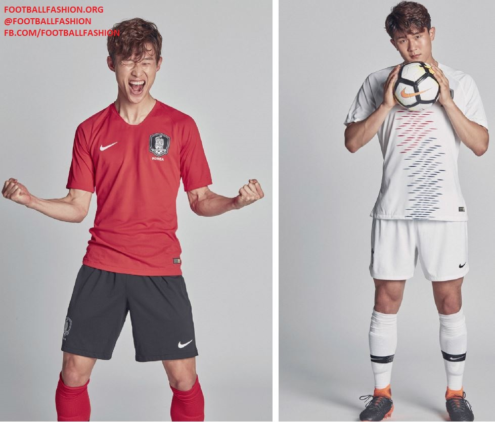 1cb4dac26fd South Korea 2018 19 Nike Home and Away Kits - FOOTBALL FASHION.ORG