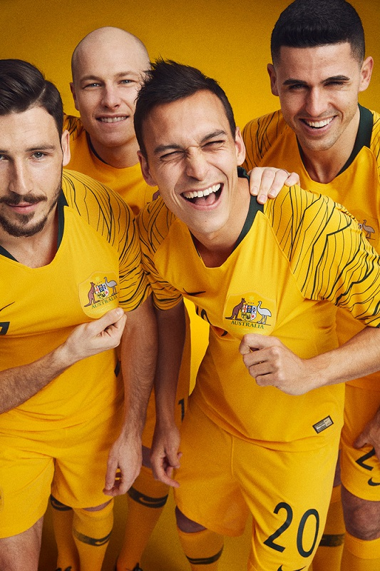 a8b7b485be4 Australia 2018 World Cup Nike Home and Away Football Kit, Soccer Jersey,  Shirt