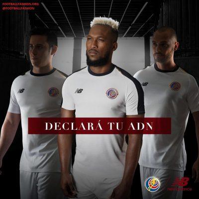 Costa Rica 2018 World Cup New Balance White Away Football Kit, Soccer Jersey, Shirt, Camiseta de Futbol Copa Mundial Rusia, Equipacion