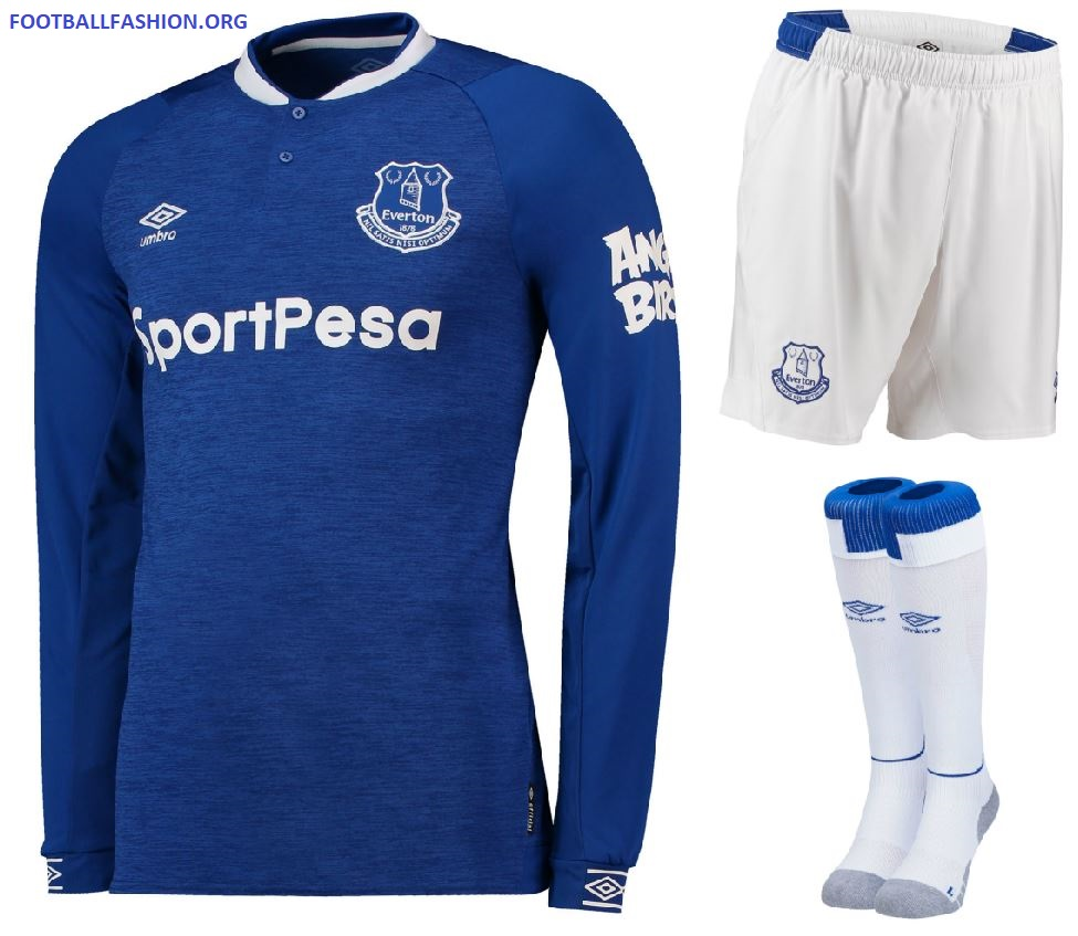 watch 8bb94 970fa Everton FC 2018/19 Umbro Home Kit - FOOTBALL FASHION.ORG