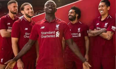 Liverpool FC 2018 2019 Red New Balance Home Football Kit, Soccer Jersey, Shirt, Camiseta, Camisa, Maillot, Trikot