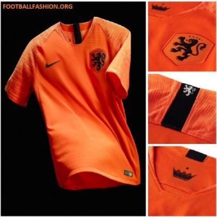 384d875bc Netherlands 2018 19 Nike Home and Away Kits - Football Fashion
