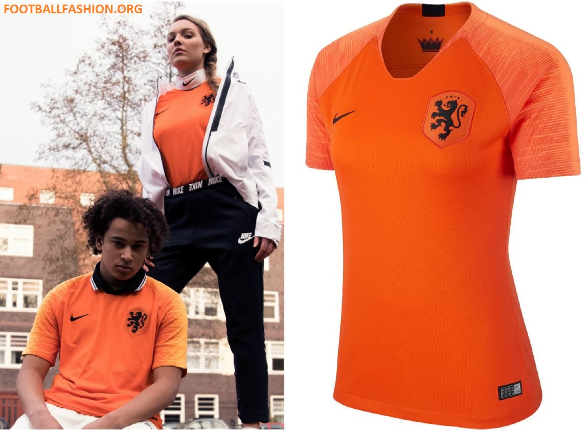 quality design 5f996 0ac64 Netherlands 2018/19 Nike Home and Away Kits - FOOTBALL ...