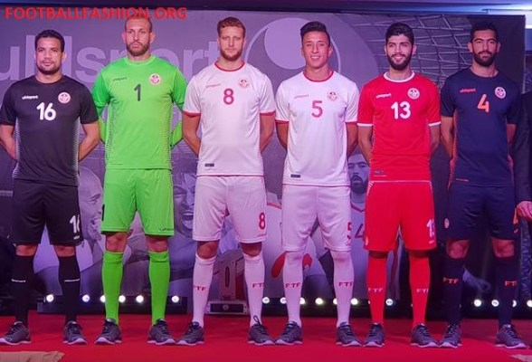 Tunisia 2018 World Cup uhlsport Home and Away Football Kit, Soccer Jersey, Shirt, Maillot Tunisie