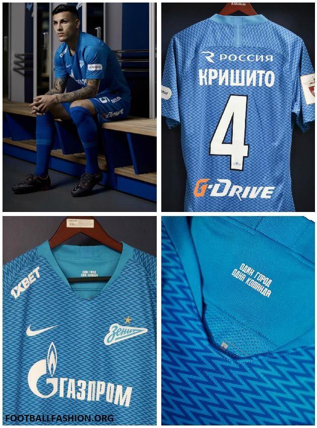 0923ea30c18 FC Zenit Saint Petersburg 2018 19 Nike Home Kit - FOOTBALL FASHION.ORG