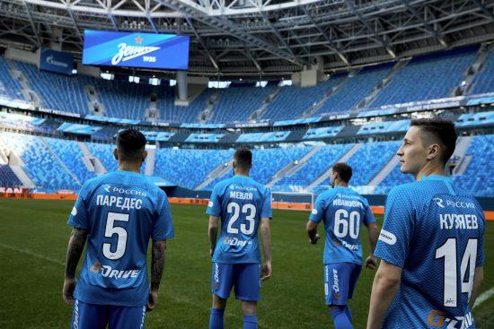 FC Zenit Saint Petersburg 2018 2019 Nike Home Football Kit, Soccer Jersey, Shirt