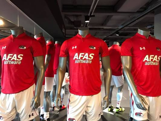 AZ Alkmaar 2018 2019 Under Armour Home Football Kit, Shirt, Soccer Jersey, Wedstrijdshirt Thuis, Thuisshirt
