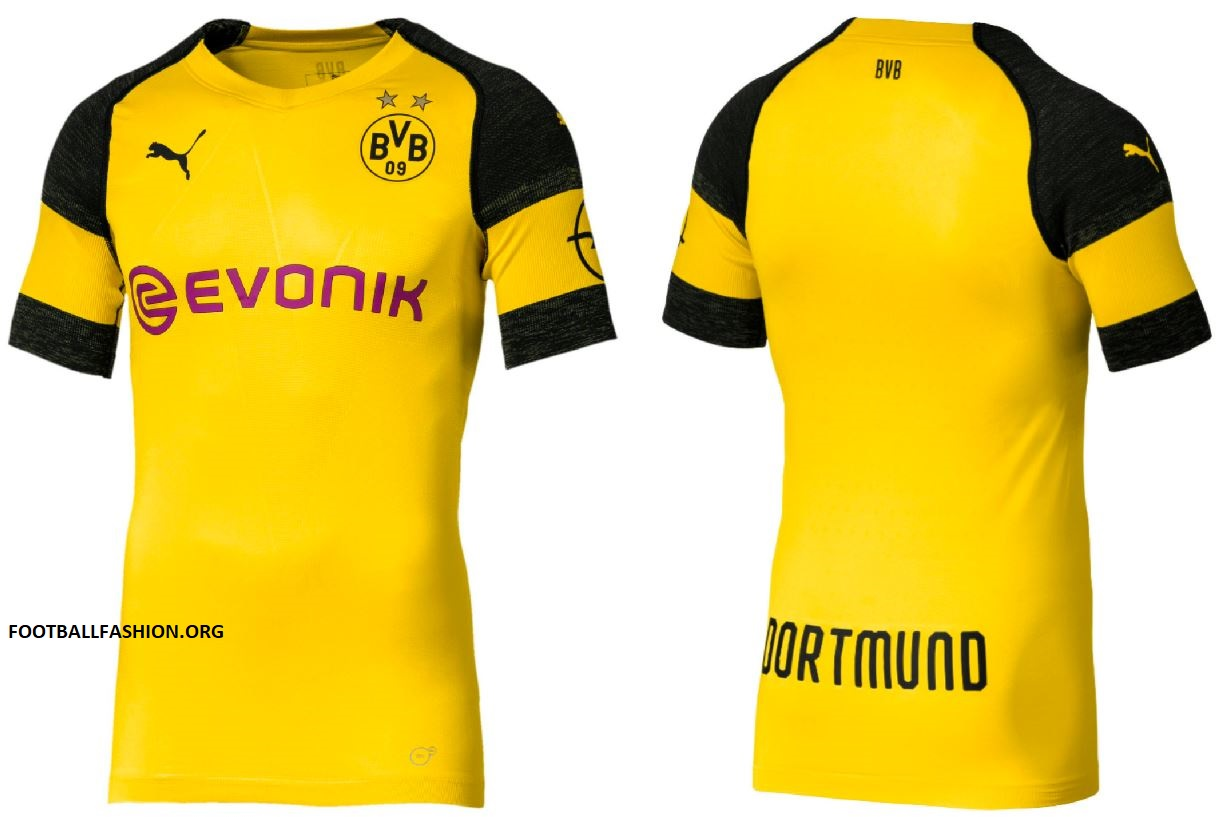 more photos 3e9b1 20bba Borussia Dortmund 2018/19 PUMA Home Kit - FOOTBALL FASHION.ORG