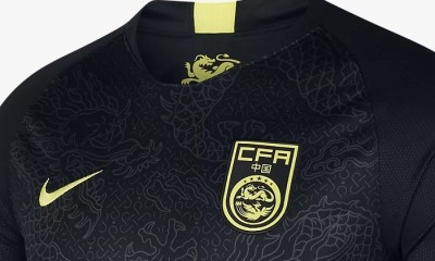 China 2018 2019 Black Nike Away Football Kit, Soccer Jersey, Shirt