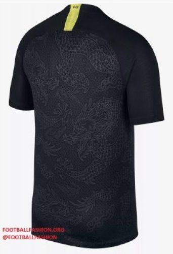 China 2018 2019 Black Nike Away Football Kit, Soccer Jersey, Shirt