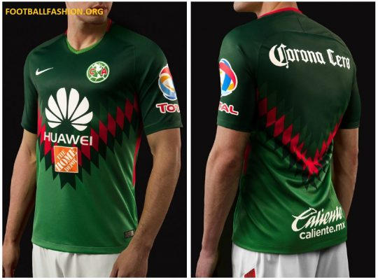 Club América 2018 Nike Green Mexico Soccer Jersey, Shirt, Football Kit, Equipacion, Camiseta, Playera, Uniforme
