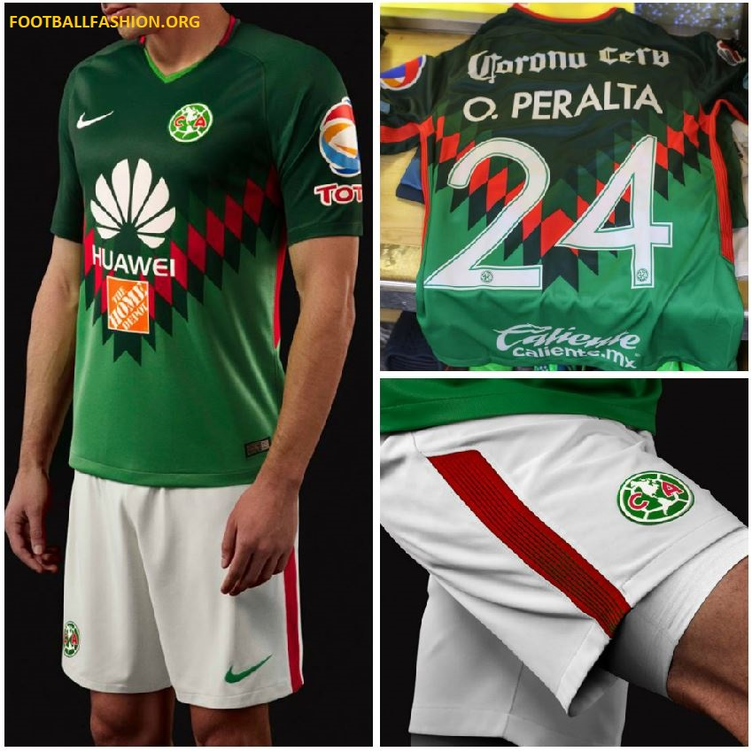 Club am rica 2018 mexico inspired nike jersey football for Cuarto kit del america 2018