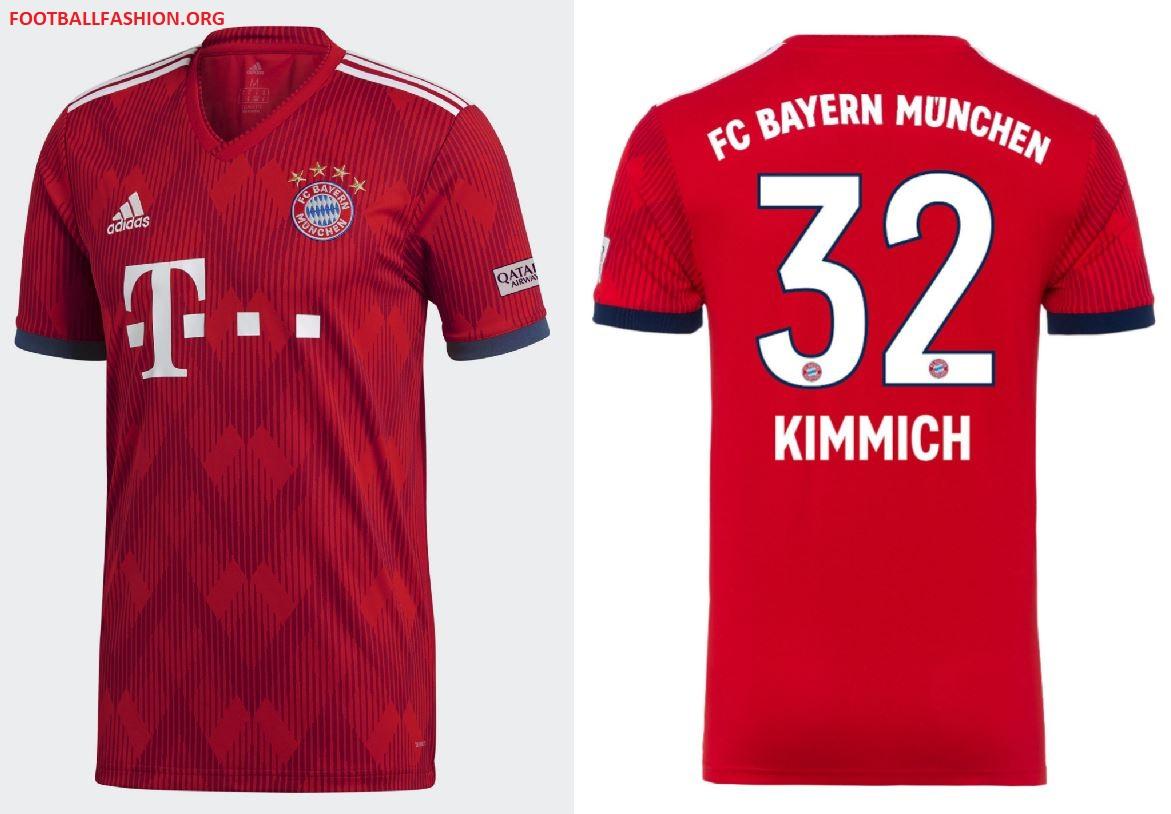 8a695537c Bayern München 2018 19 adidas Home Kit - FOOTBALL FASHION.ORG
