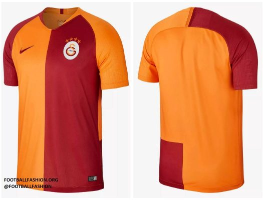 Galatasaray SK 2018 2019 Nike Home Football Kit, Soccer Jersey, Shirt, Forma