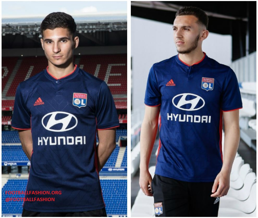 dd95d04bb25 Olympique Lyon 2018 2019 adidas Home and Away Football Kit, Soccer Jersey,  Shirt,