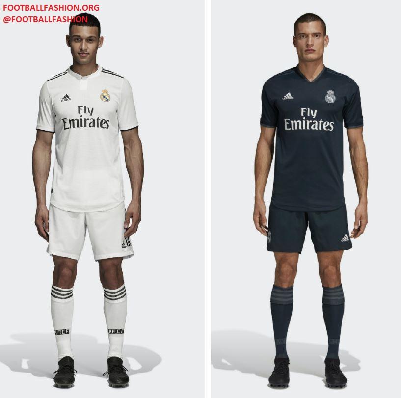 pick up ef0db 42644 Real Madrid 2018/19 adidas Home and Away Kits - FOOTBALL ...