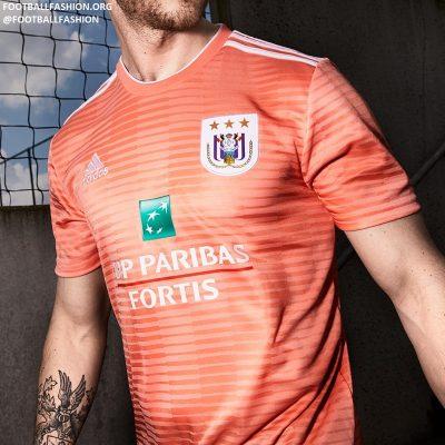 RSC Anderlecht 2018 2019 adidas Away Football Kit, Soccer Jersey, Shirt, Maillot, Tenue