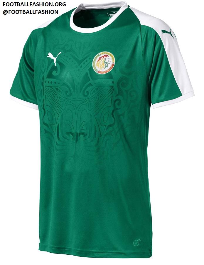 0504ad5903e Senegal 2018 World Cup PUMA Green Away Football Kit, Soccer Jersey, Shirt,  Maillot
