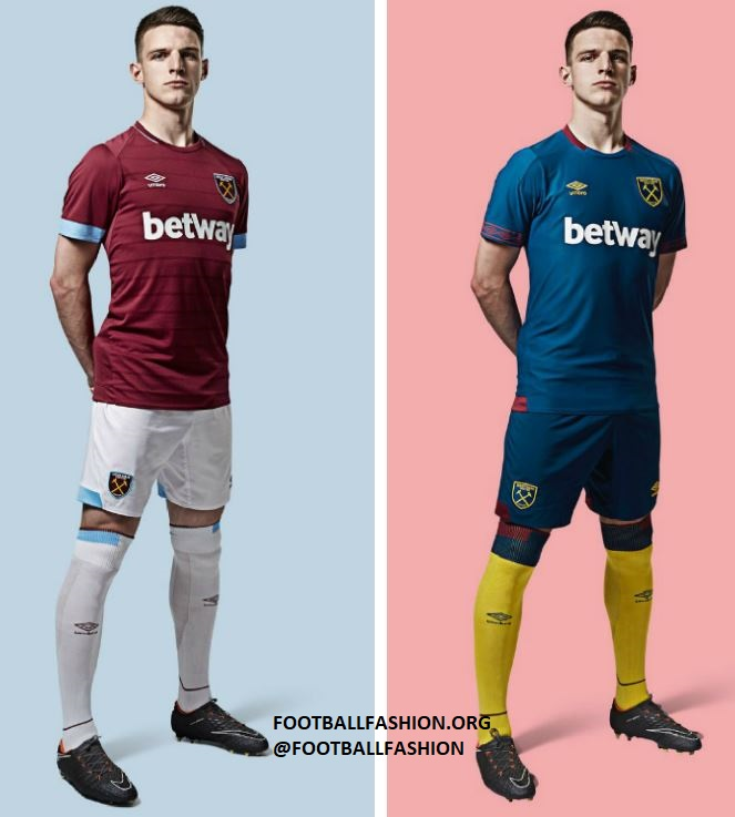 8c8d77332e5 West Ham United 2018 2019 Umbro Home Football Kit, Soccer Jersey, Shirt,  Camiseta