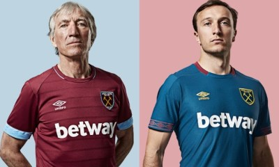 West Ham United 2018 2019 Umbro Home Football Kit, Soccer Jersey, Shirt, Camiseta, Camisa, Maillot, Trikot