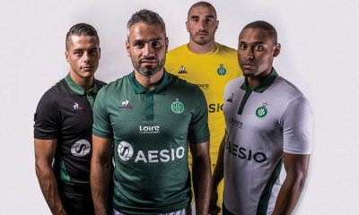 AS Saint-Étienne 2018 2019 le coq sportif Football Kit, Soccer Jersey, Shirt, Maillot