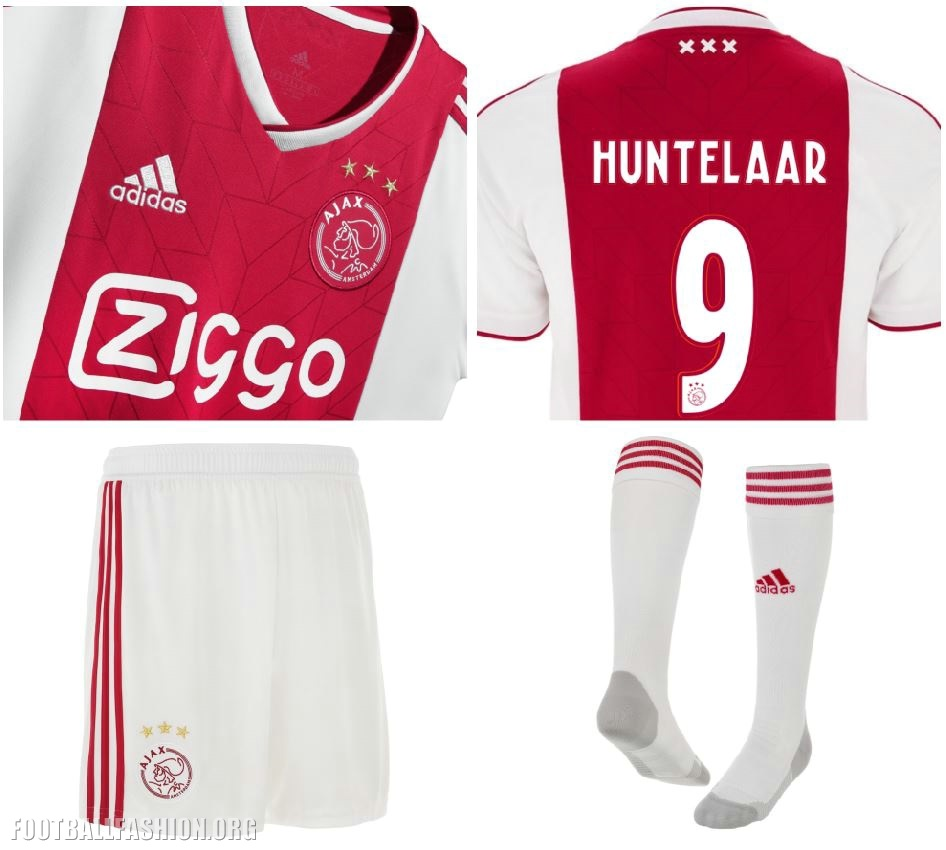 cfd3bc2f761 AFC Ajax 2018 2019 adidas Home Football Shirt, Kit, Soccer Jersey,  Thuisshirt,