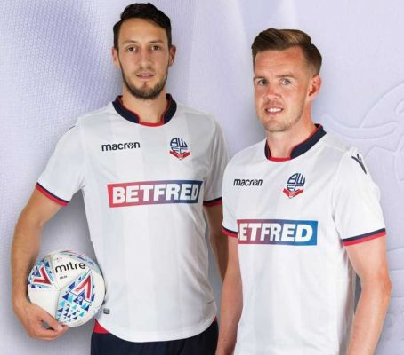 Bolton Wanderers 2018 2019 Macron Home Football Kit, Soccer Jersey, Shirt