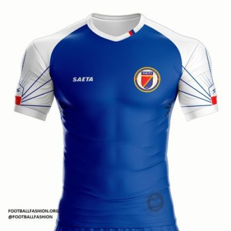 Haiti 2018 2019 Gold Cup Seata Home Soccer Jersey, Football Kit, Shirt, Maillot