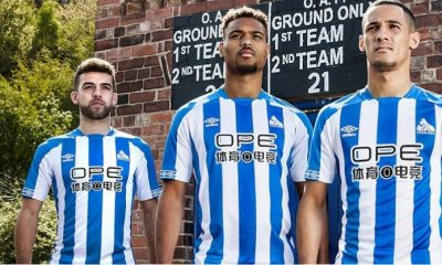 Huddersfield Town 2018 2019 Umbro Home Football Kit, Soccer Jersey, Shirt