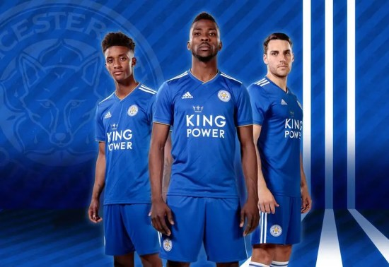 Leicester City FC 2018 2019 adidas Home Football Kit, Soccer Jersey, Shirt