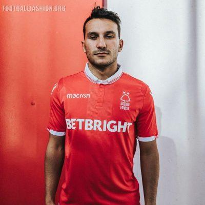 Nottingham Forest 2018 2019 Macron Home Football Kit, Soccer Jersey, Shirt