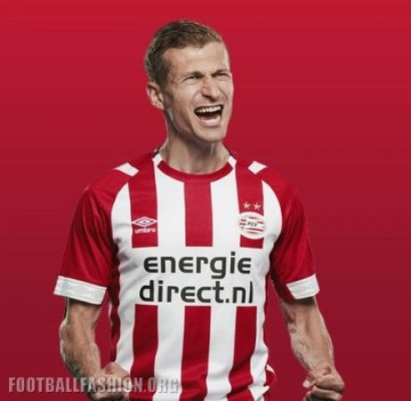 PSV Eindhoven 2018 2019 Umbro Home Football Kit, Soccer Jersey, Shirt, Thuisshirt, Tenue