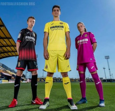 Villarreal CF 2018 2019 Joma Home, Away and Third Football Kit, Soccer Jersey, Shirt, Camiseta de Futbol, Equipacion