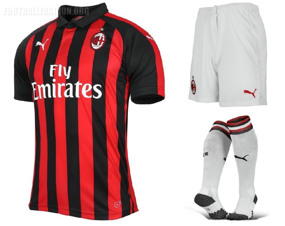 778e306d6 AC Milan 2018 19 PUMA Home Kit - FOOTBALL FASHION.ORG