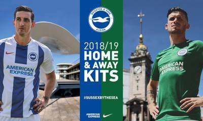 Brighton & Hove Albion 2018 2019 Nike Home and Away Football Kit, Soccer Jersey, Shirt