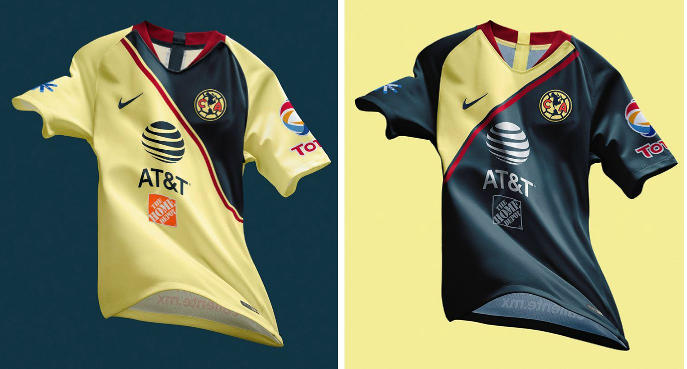 cd47381ed Club América 2018 19 Nike Home and Away Jerseys - FOOTBALL FASHION.ORG