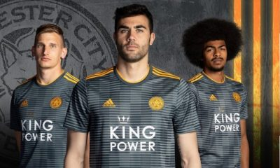 Leicester City FC 2018 2019 adidas Away Football Kit, Soccer Jersey, Shirt