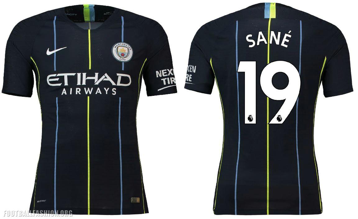 Manchester City FC 2018 2019 Dark Blue Nike Away Football Kit b735282364009