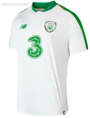 Republic of Ireland 2018 2019 New Balance Away Football Kit, Soccer Jersey, Shirt