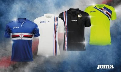 Sampdoria 2018 2019 Joma Home, Away and Third Football Kit, Soccer Jersey, Shirt, Maglia, Gara