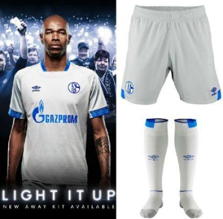 Schalke 04 2018 2019 Umbro Away Football Kit, Soccer Jersey, Shirt, Trikot
