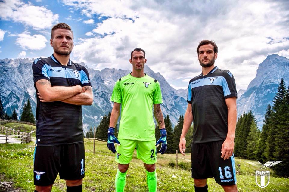 997eb23fb5 SS Lazio 2018 2019 Macron Third Football Kit, Soccer Jersey, Shirt, Gara,