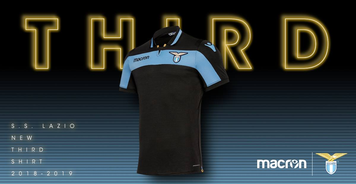 SS Lazio 2018 19 Macron Third Kit – FOOTBALL FASHION.ORG 996fd1b21