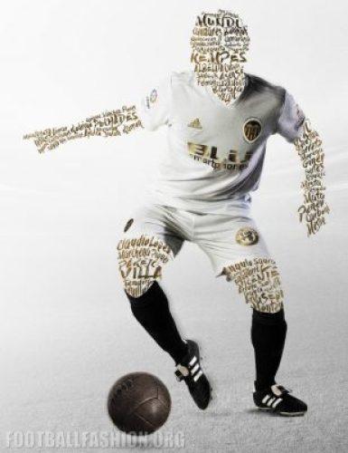 Valencia CF 2018 2019 adidas White Home Football Kit, Soccer Jersey, Shirt, Camiseta de Futbol, Camisa, Equipacion