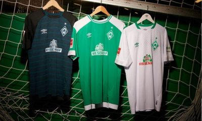 sneakers for cheap 3a8b2 272ff Werder Bremen 2018 2019 Umbro Home, Away and Third Football Kit, Soccer  Jersey, ...