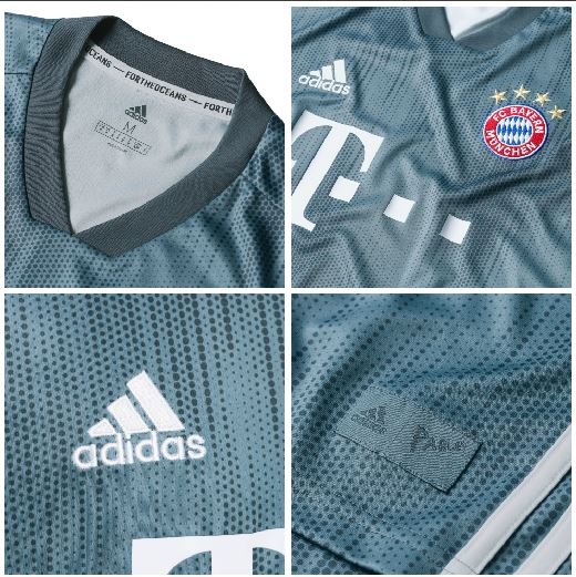 ef0f7a772 Bayern Munich 2018 2019 adidas Gray Third UEFA Champions League Football Kit